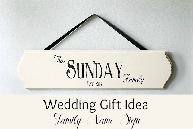 Wedding gift idea- Last name sign