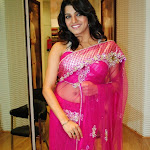 Tashu Kaushik Hot Saree Pics @ Mebaz Showroom Hyderabad