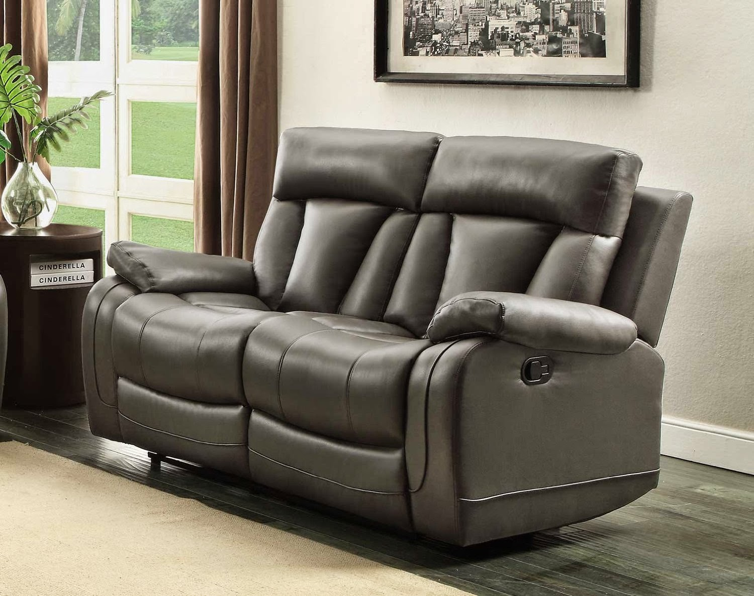 Vivaldi 2 Seater Reclining Leather Sofa