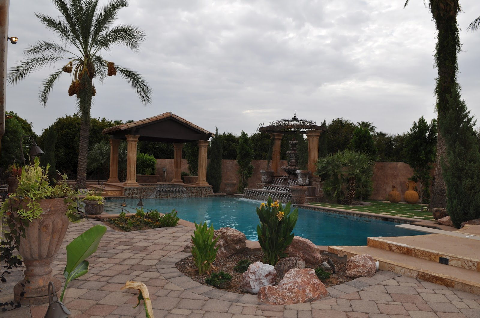 Rent an ultra luxury home in mesa az for baseball spring for Pool fill in mesa az