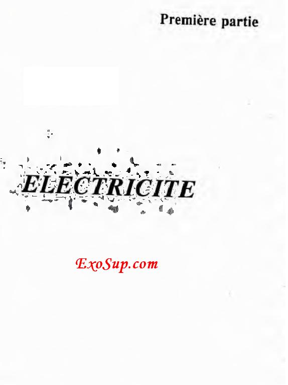 problèmes corrigés d'électricité 1