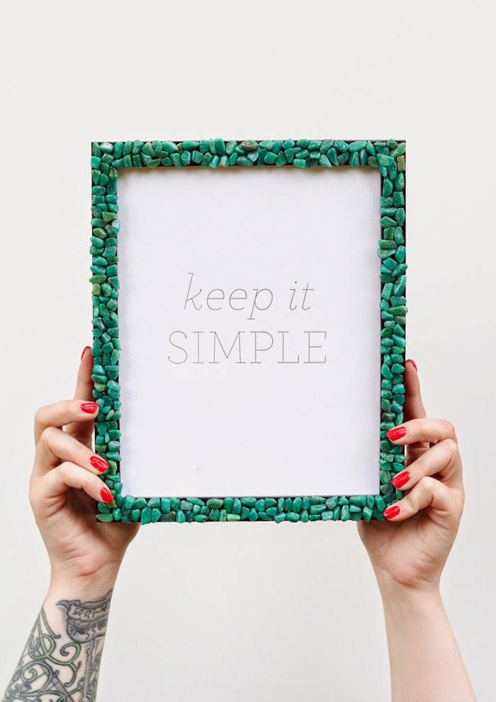 DIY - Gemstone Picture Frame | Poppytalk