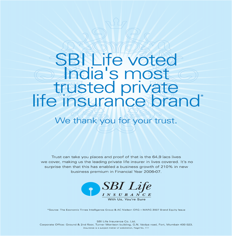"objectives of sbi life insurance Sbi life insurance (2)  investment preferences and awareness of sbi life insurance service"" objectives 1 to understand the customer investment preferences ."