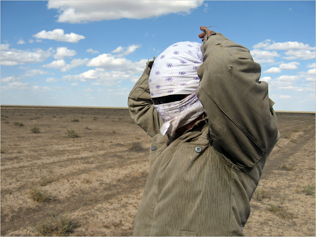 Казахстан, Мангистауская область, плато Устюрт. Степь. Аул Дюсика.