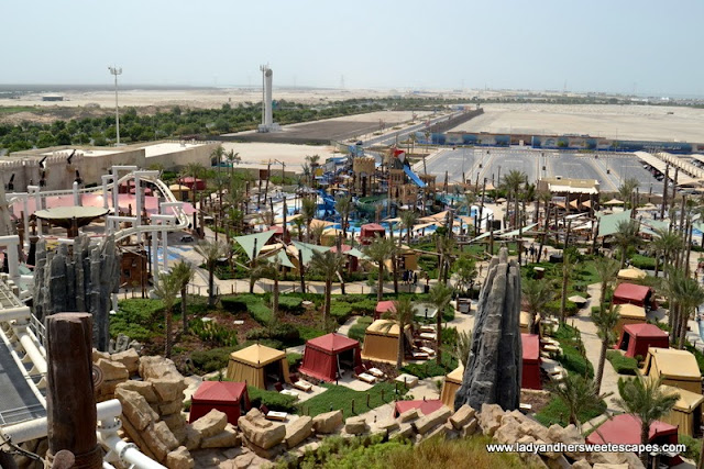 private cabanas at Yas Waterworld