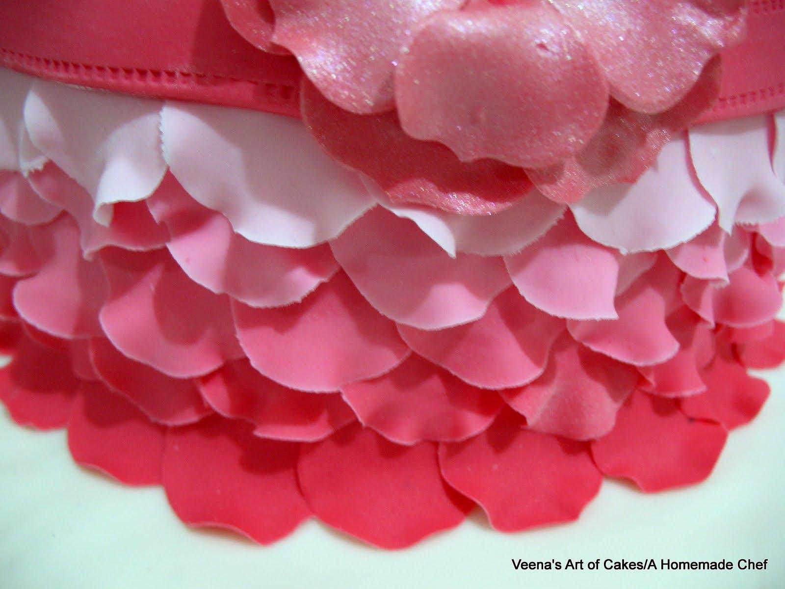 Rose Petal Cake Images : Ombre Rose Petal Cake - Veena Azmanov