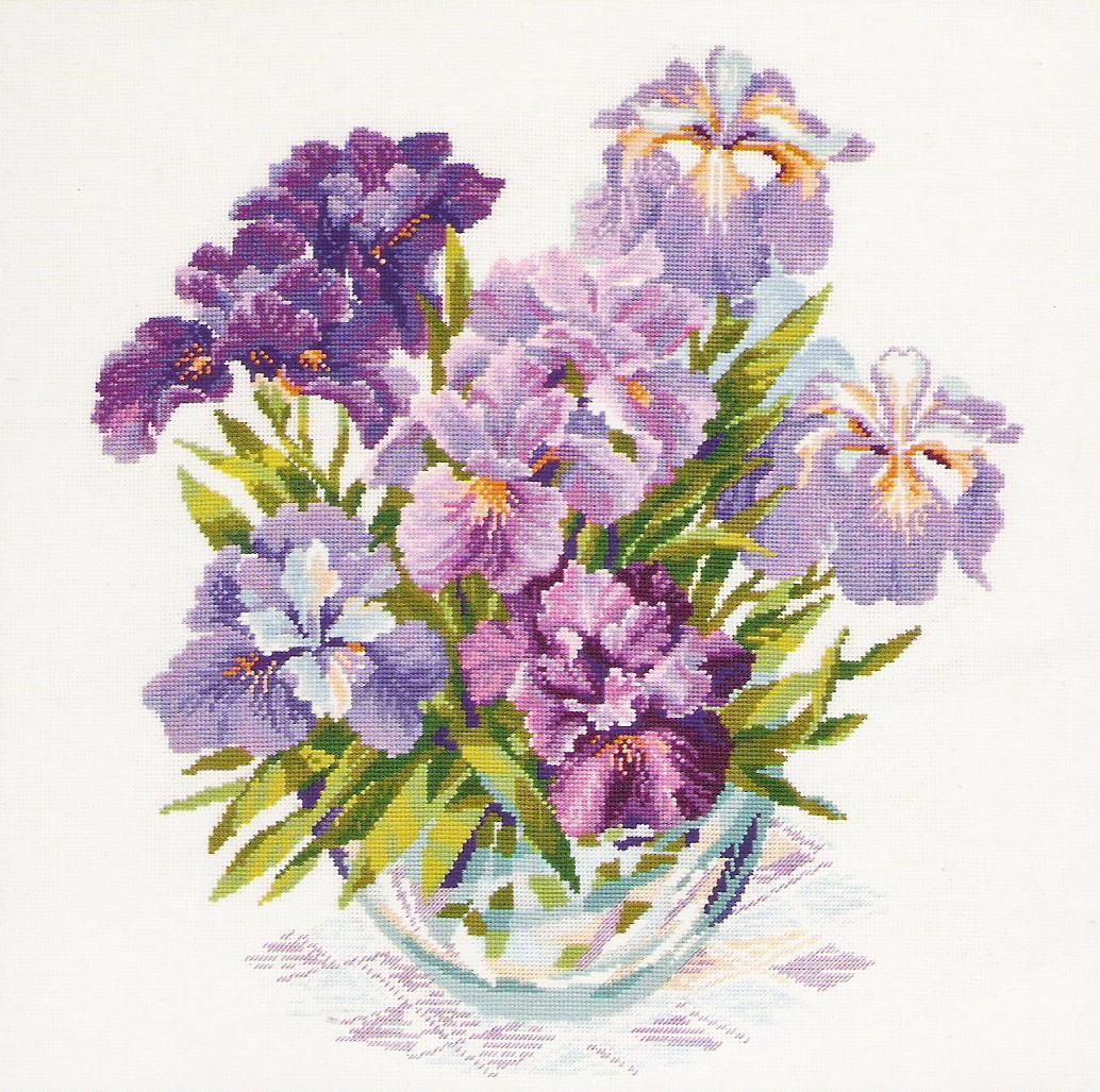 Изображения цветов для вышивки