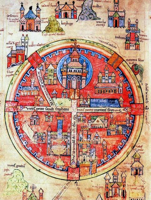 Mapa medieval de Jerusalém
