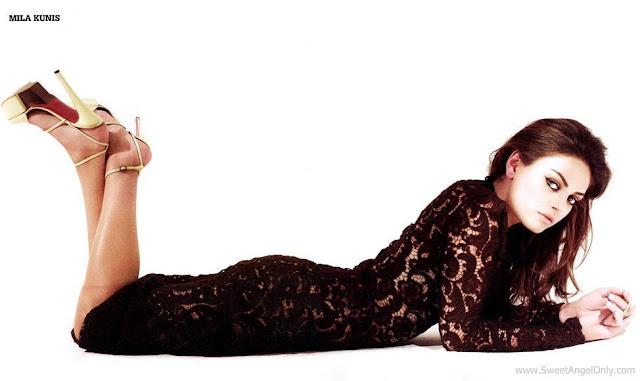 Glamorous Wallpaper-Mila Kunis