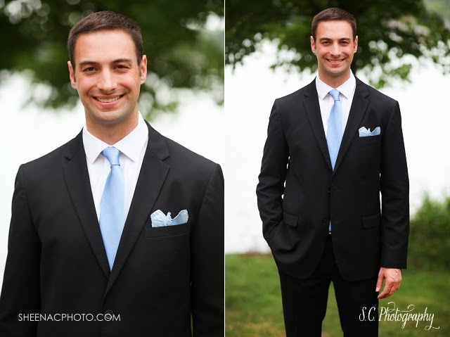 Tullymore golf resort canadian lakes michigan wedding groom blue tie suit wedding