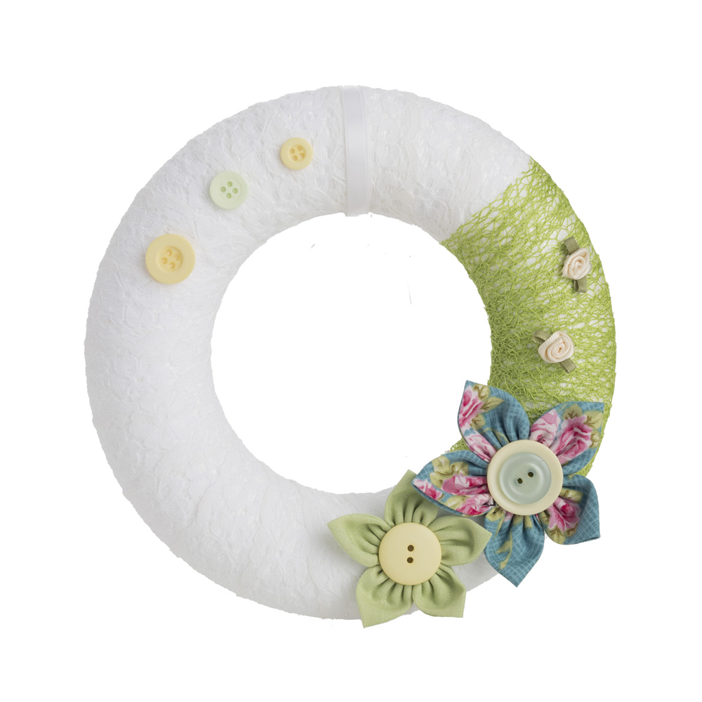 Spring Greens floral wreath by Welaughindoors