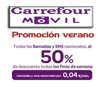 Promoción verano Carrefour Móvil 50%