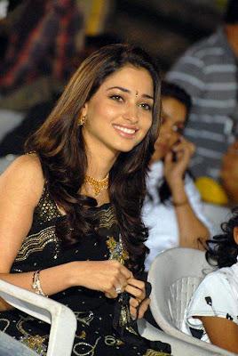 Actress Tamanna in black Saree Photos