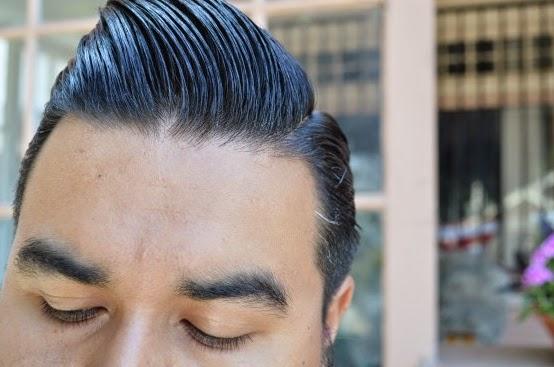 Contoh Rambut Yang Telah Memakai Minyak Rambut Pomade American Ultimate Sin  Kemasan Warna Hitam