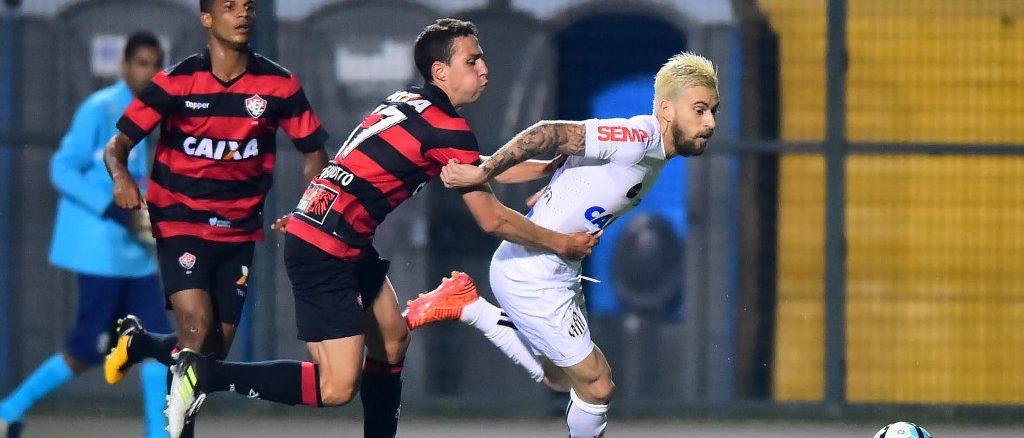 Vitória joga bem, mas empata com o Santos