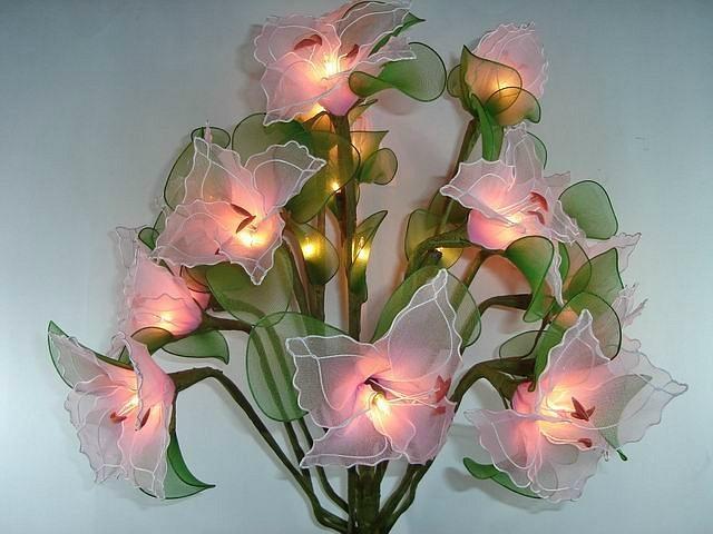 Светильник цветы своими руками мастер класс 29