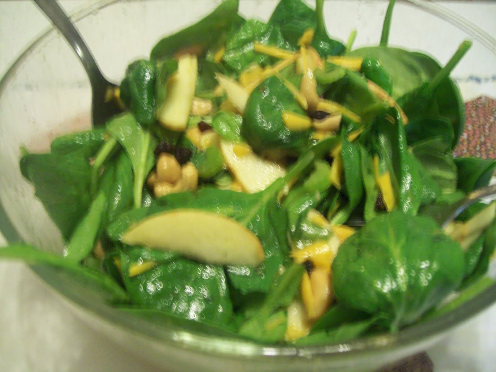 Spinach Waldorf Salad With Cinnamon-Apple Dressing Recipes ...