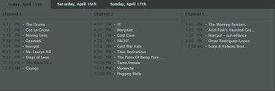 lista de artistas coachella 2011 domingo 17 abril 2011