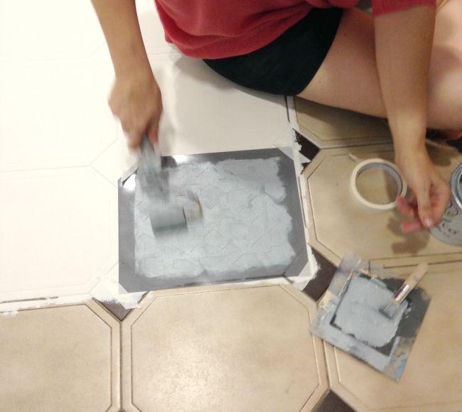 Ideas a la tiza suelo pintado con chalk paint for Pintar suelo cocina
