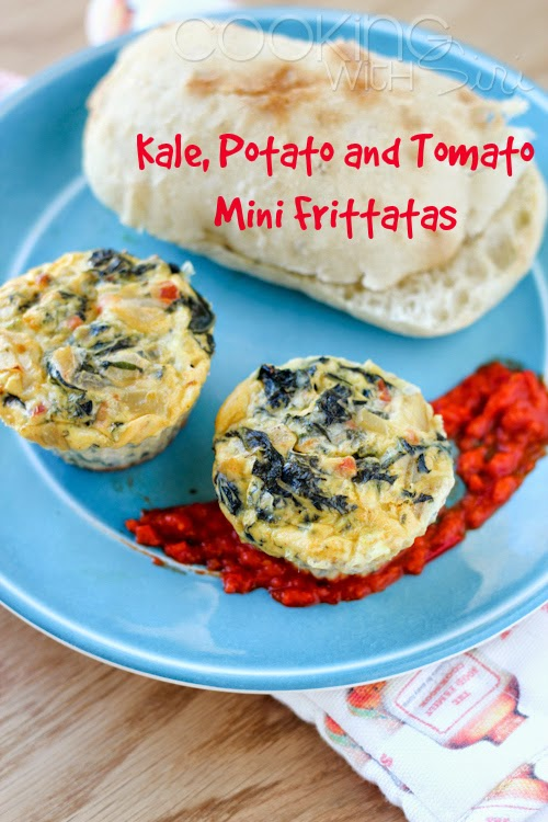 kale potato tomato mini frittatas