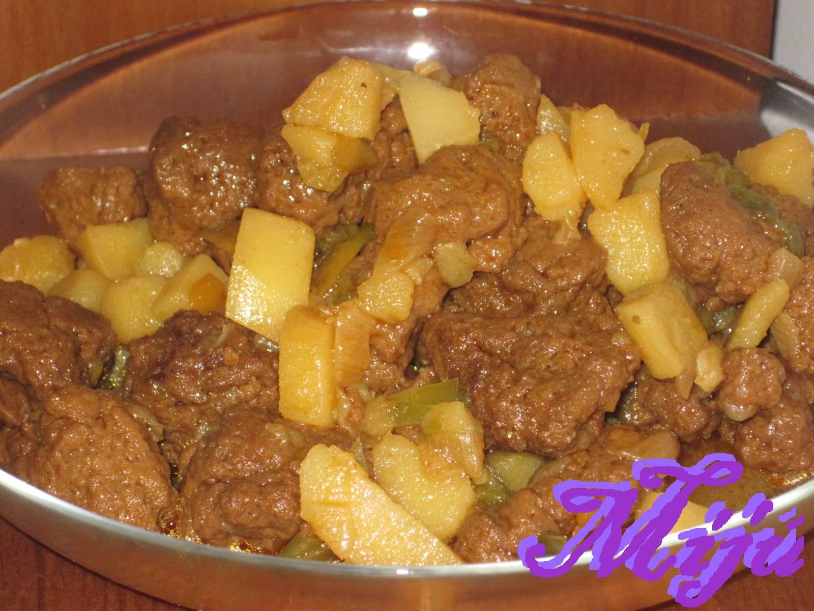 El bocado de la huerta seitan de mostaza con patatas for Cocinar seitan