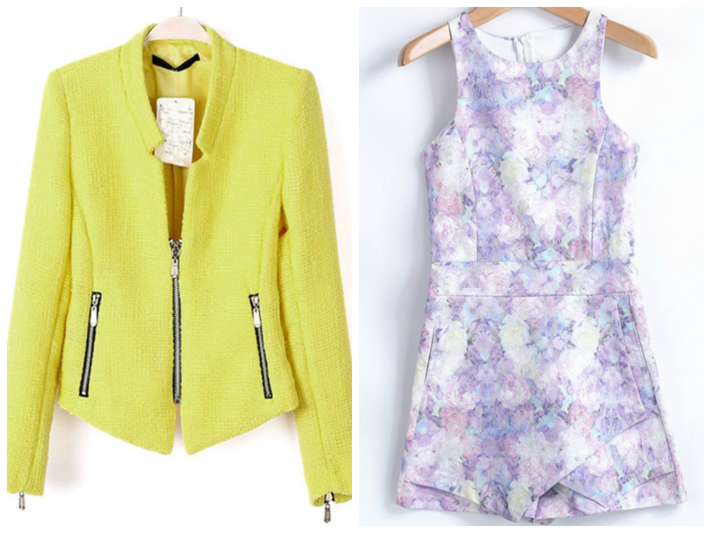 GIVEAWAY: WIN A COLLARLESS LONG SLEEVE JACKET & SLEEVELESS FLORAL JUMPSUIT FROM SHEINSIDE