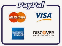 We accept PAYPAL payment!