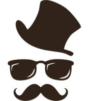 Gambar Kumis Kacamata Topi Kartun Lucu Vektor Grafis