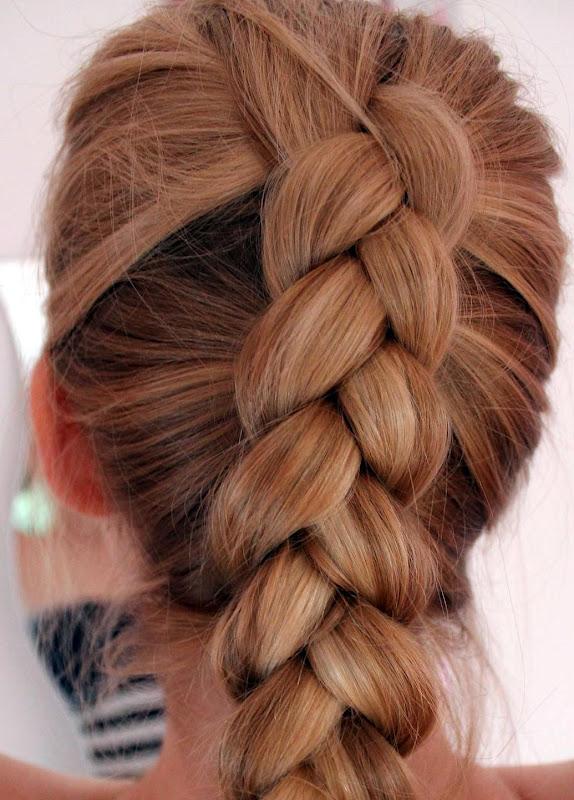 Haare nach einem zopf