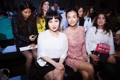Josie Ho and Yvette at Fashion Week in Paris