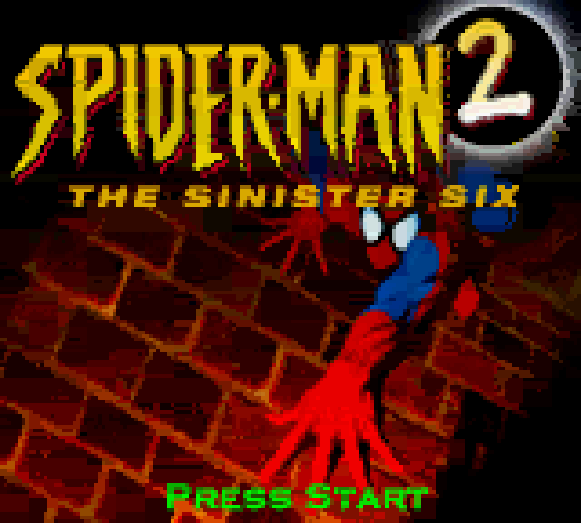 Spider-Man 2 the Sinister Six Game Boy Color title screen