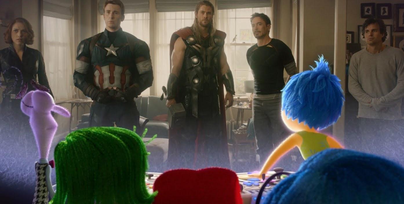 Personagens de Divetida Mente reagem ao trailer de Vingadores: Era de Ultron