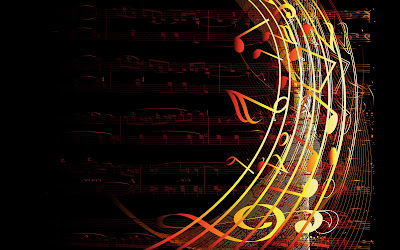 Colorfull musical notes wallpaper - music wallpaper