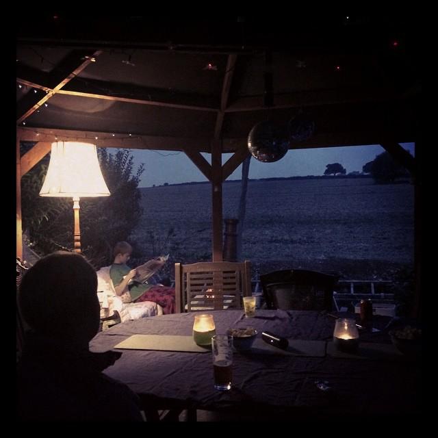 dining al fresco under gazebo