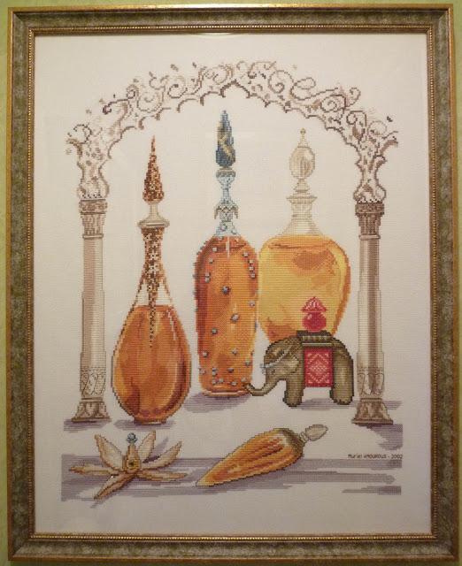 Collection Parfums (Ambrés et Orientaux),DMC,Hélène TRAN,Broderie