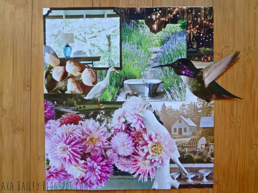 Abby's beautiful garden collage
