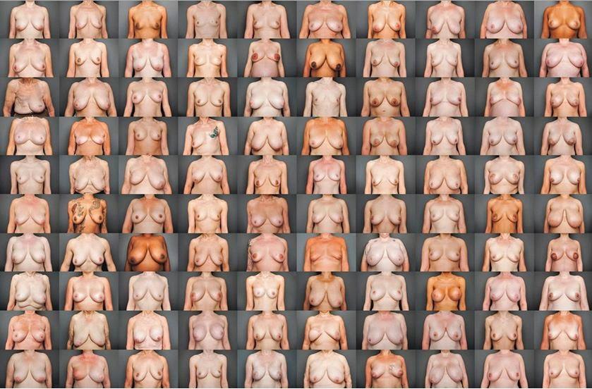 Fotografio' las pechugas de 100 mujeres