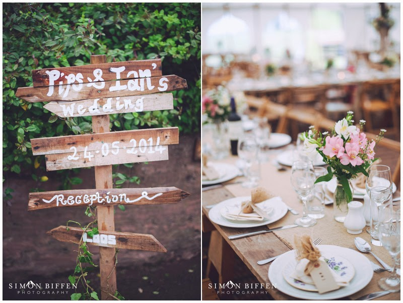 Rustic country wedding styling