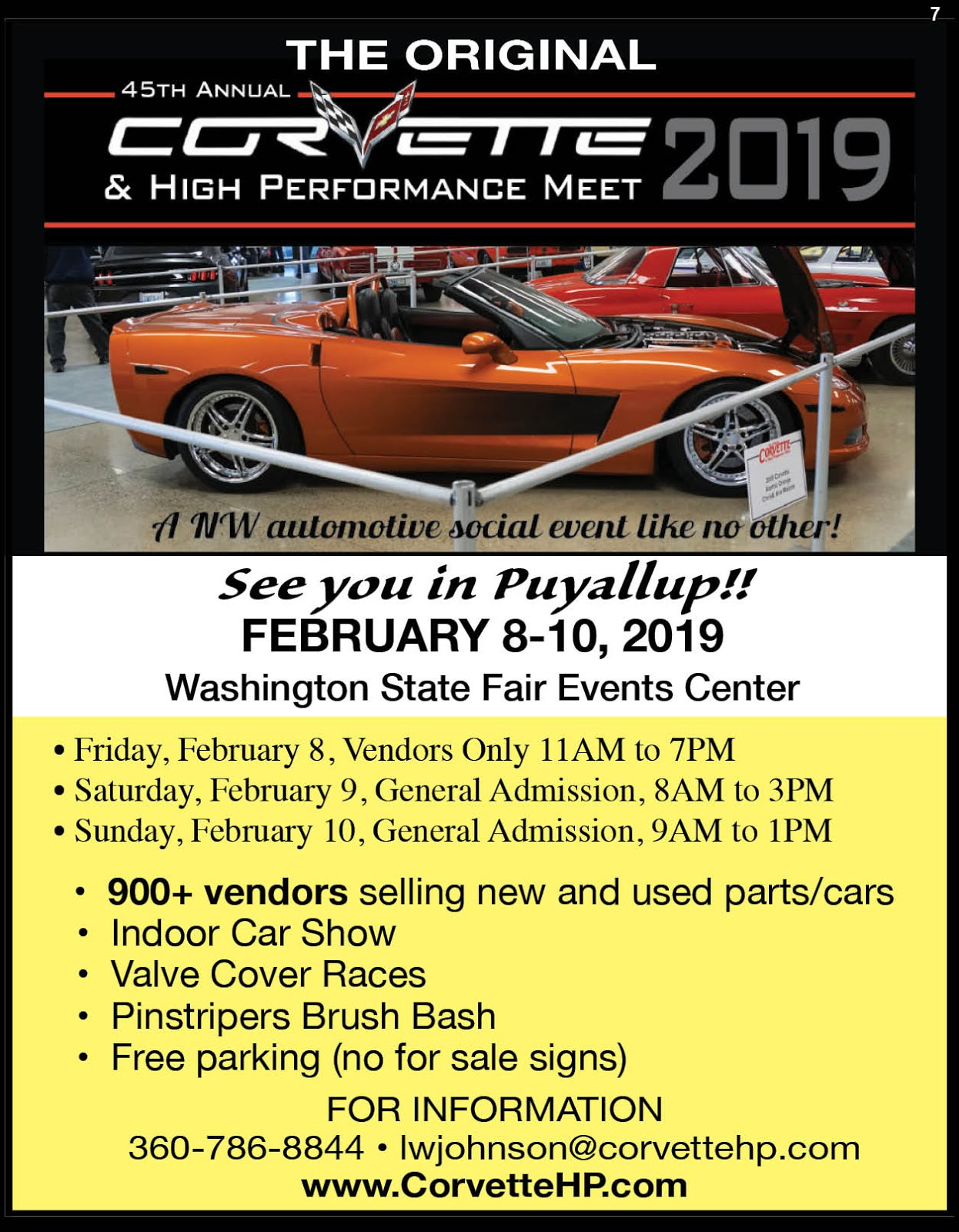 Corvette & High Performance Meet Info