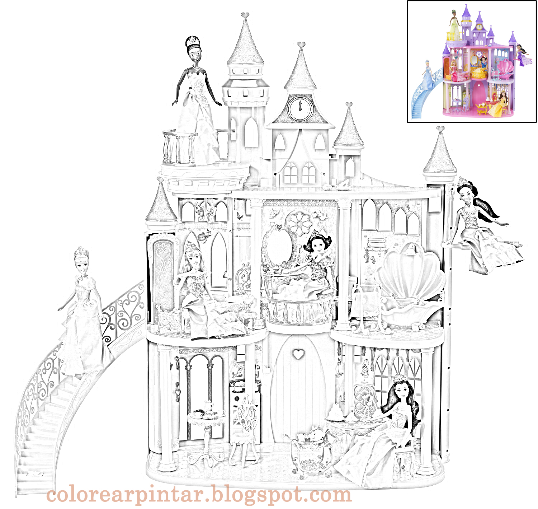 Contemporáneo Castillo De Princesa Para Colorear Cresta - Dibujos ...