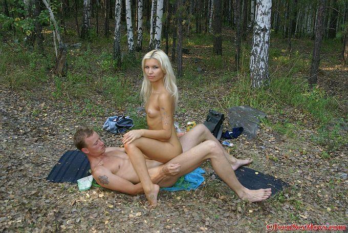 любительское фото порно на природе