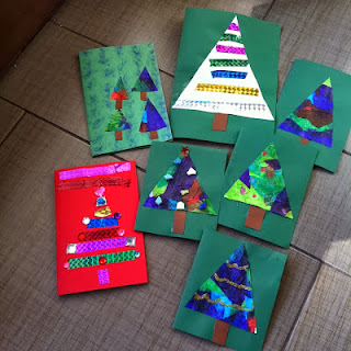 homemade christmas cards made by toddlers and preschoolers