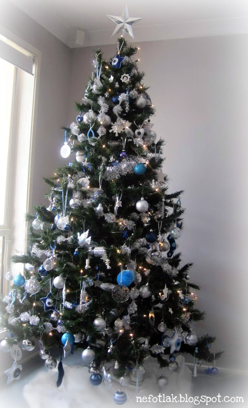 christmas tree 2011 - Silver And Blue Christmas Tree