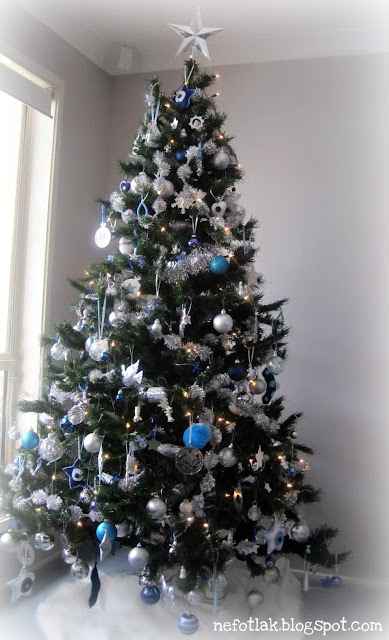 Christmas Tree Blue And Silver Theme : Nefotlak christmas tree