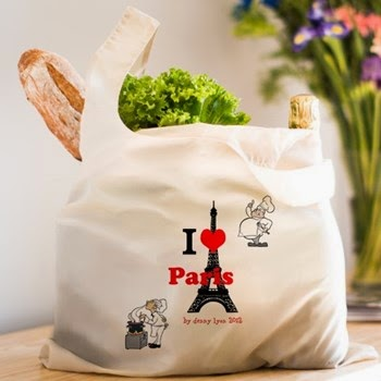 I Love Paris Reusable Shopping Bag