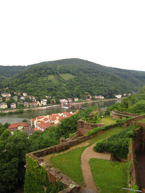 The Nectar River in Heidelberg, Germany.