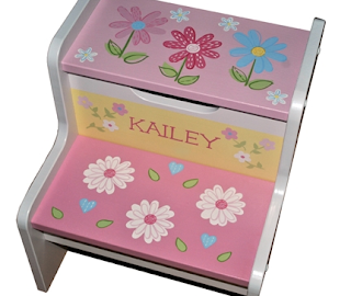 storage step stool for kids