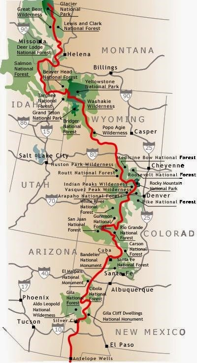 Cdt Colorado Map.My Hiking Life Trail Overview Map