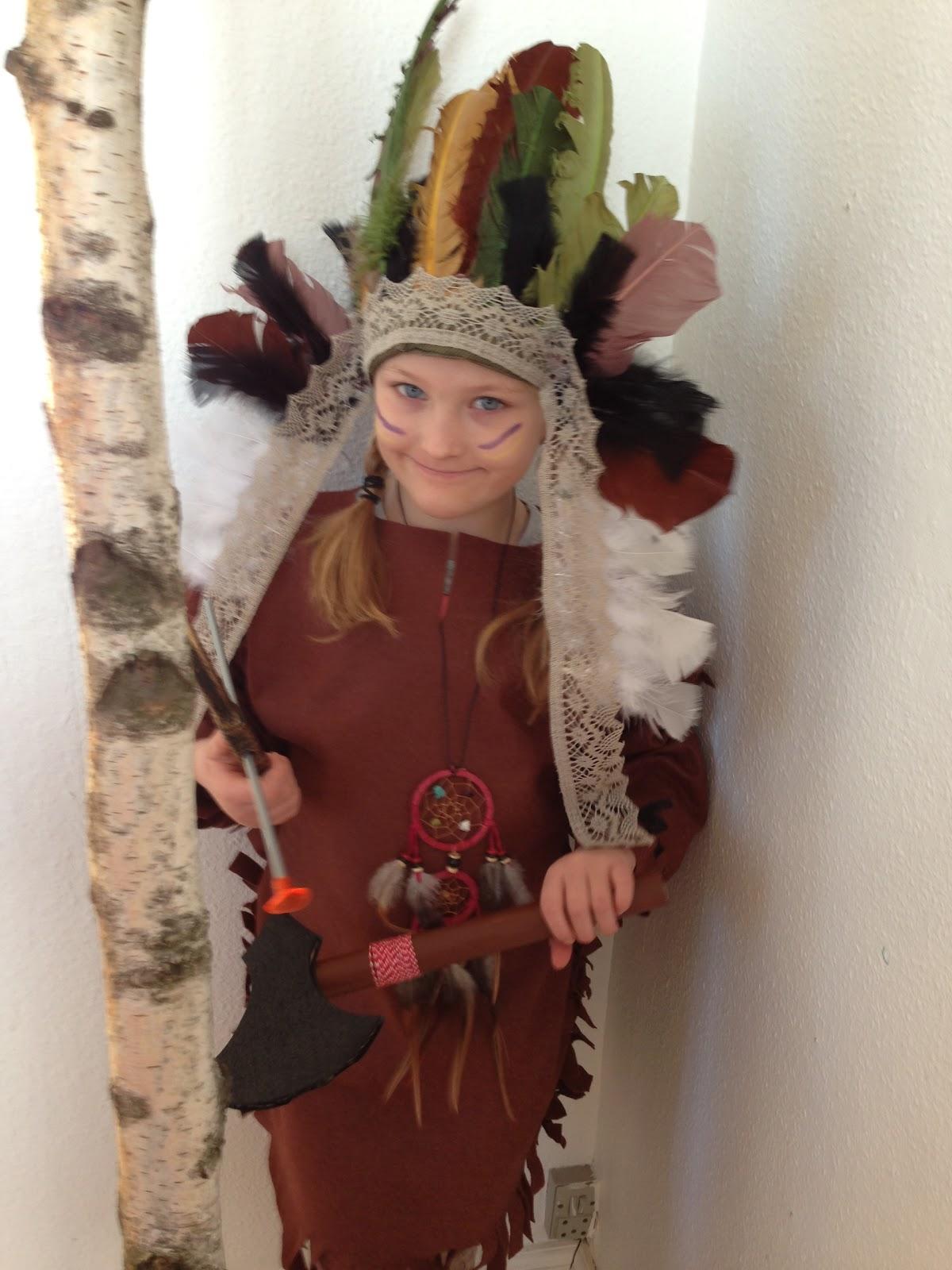 #A43527 Bedst HomeMaid: Gør Det Selv Indianer Kostume (Video) Gør Det Selv Kostumer 5623 120016005623