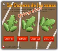 LA CARRERA ORTOGRÁFICA DE LAS RANAS